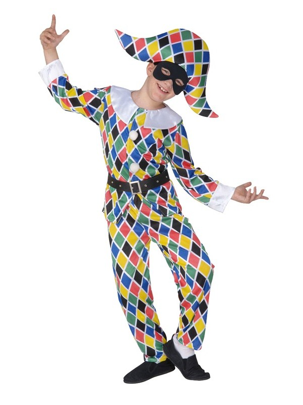 Costume Garçon - Costume Arlequin multicolor