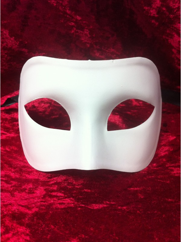 Masque blanc à personnaliser - Colombina larga