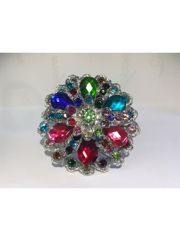 Bague Kausa strass Multicolor