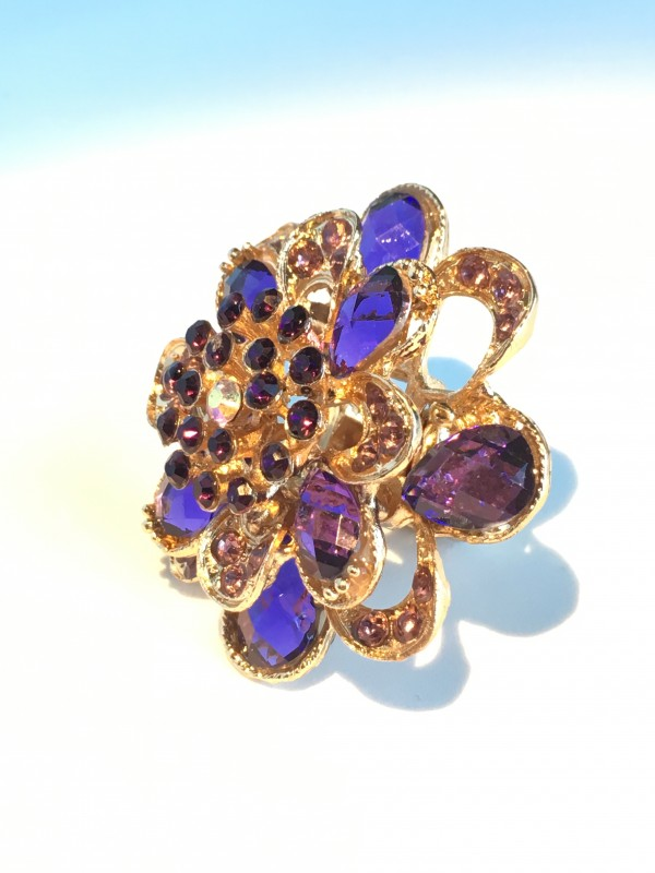 Bague Margu strass Violet