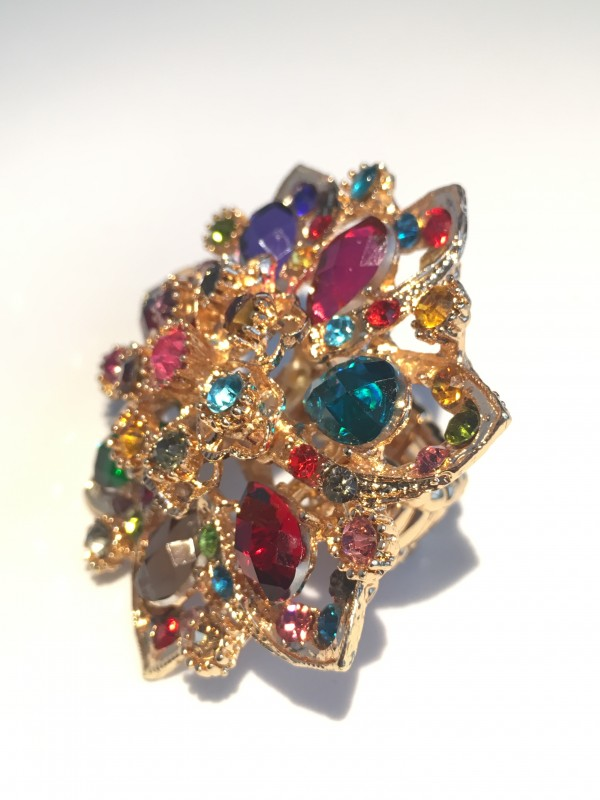 Bague Zoly strass multicolor Atelier la Colombe Strasbourg