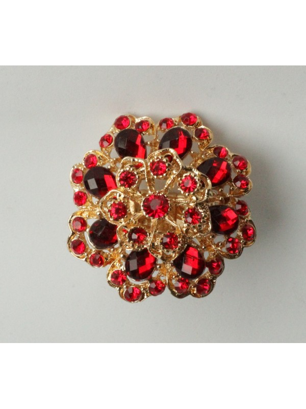 Bague Viorn strass Rouge