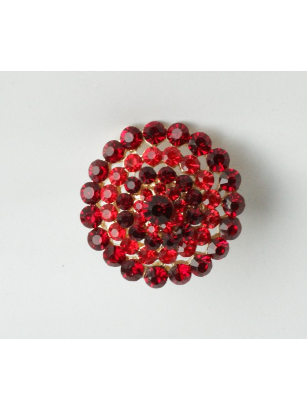 Bague Margu strass Rouge
