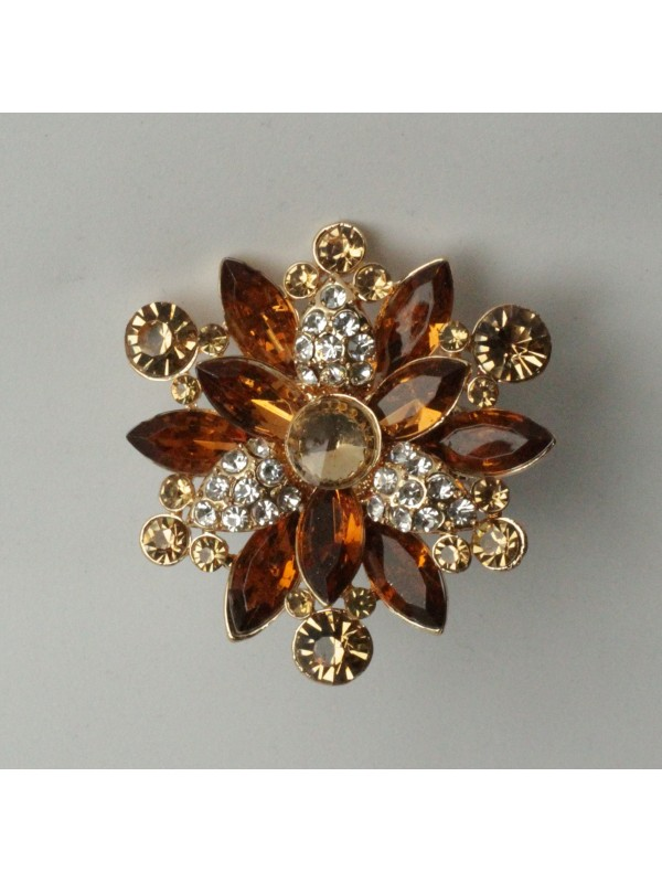 Bague Viorn strass Ocre