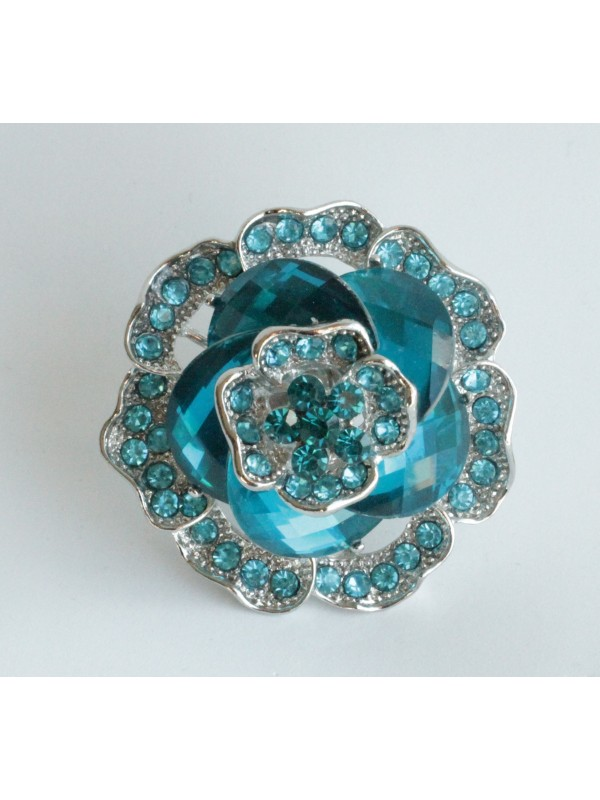 Bague Kausa strass turquoise