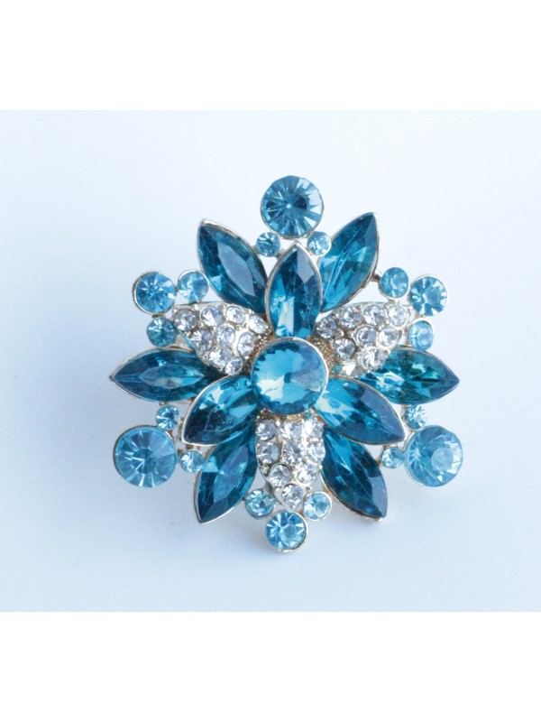 Bague Margu strass turquoise