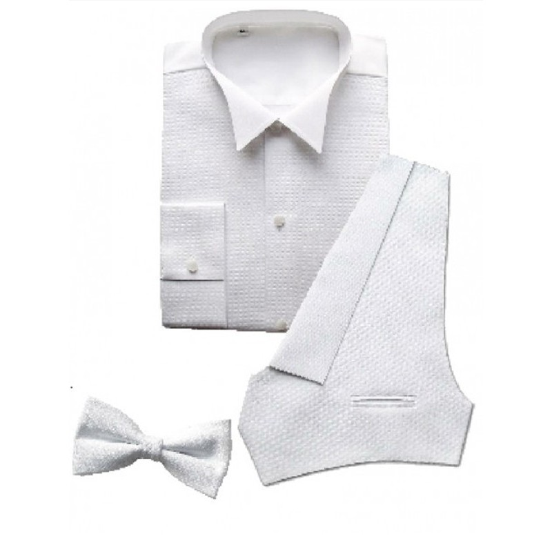 a81e86fb0ed6d Kit chemise  gilet  noeud papillon pour costume Queue de Pie Homme. Loading  zoom